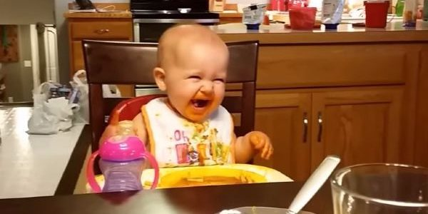 Muhaha! Baby's ADORABLE 'evil genius' laugh has made her an